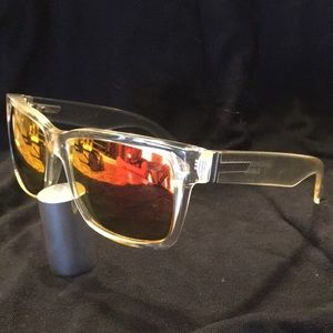 Von Zipper Elmore clear frame red mirrored lenses